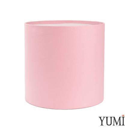 Шляпная коробка 20х20 см нежно-розовая без крышки, фото 2