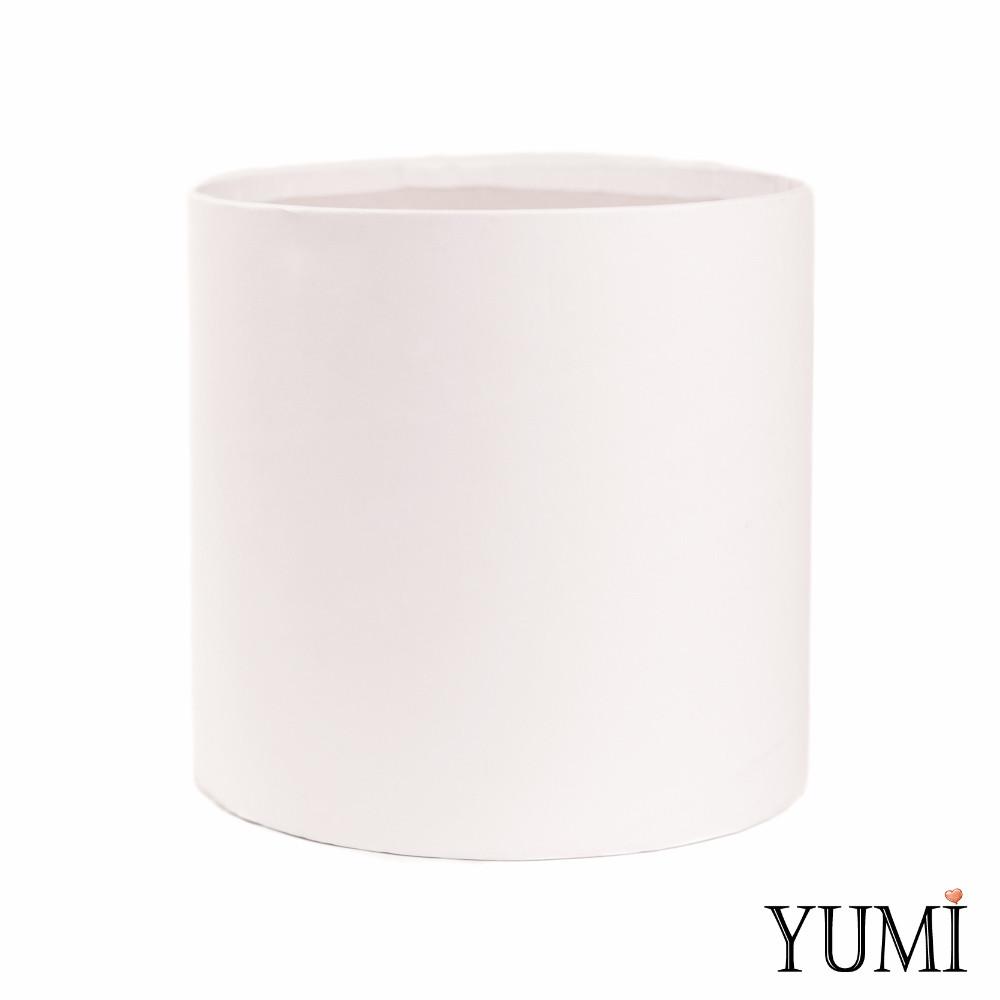 Шляпная коробка 20х20 см белая без крышки