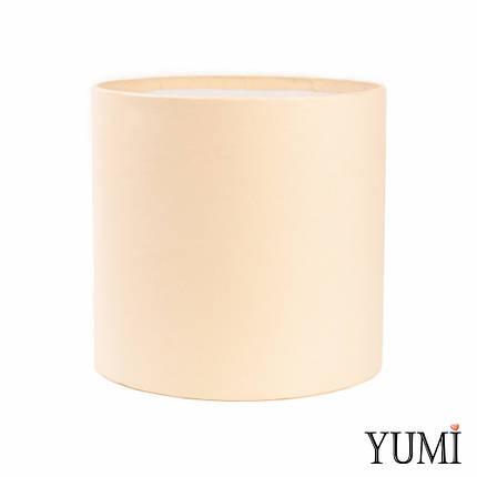 Шляпная коробка 20х20 см айвори (кремовая) без крышки, фото 2
