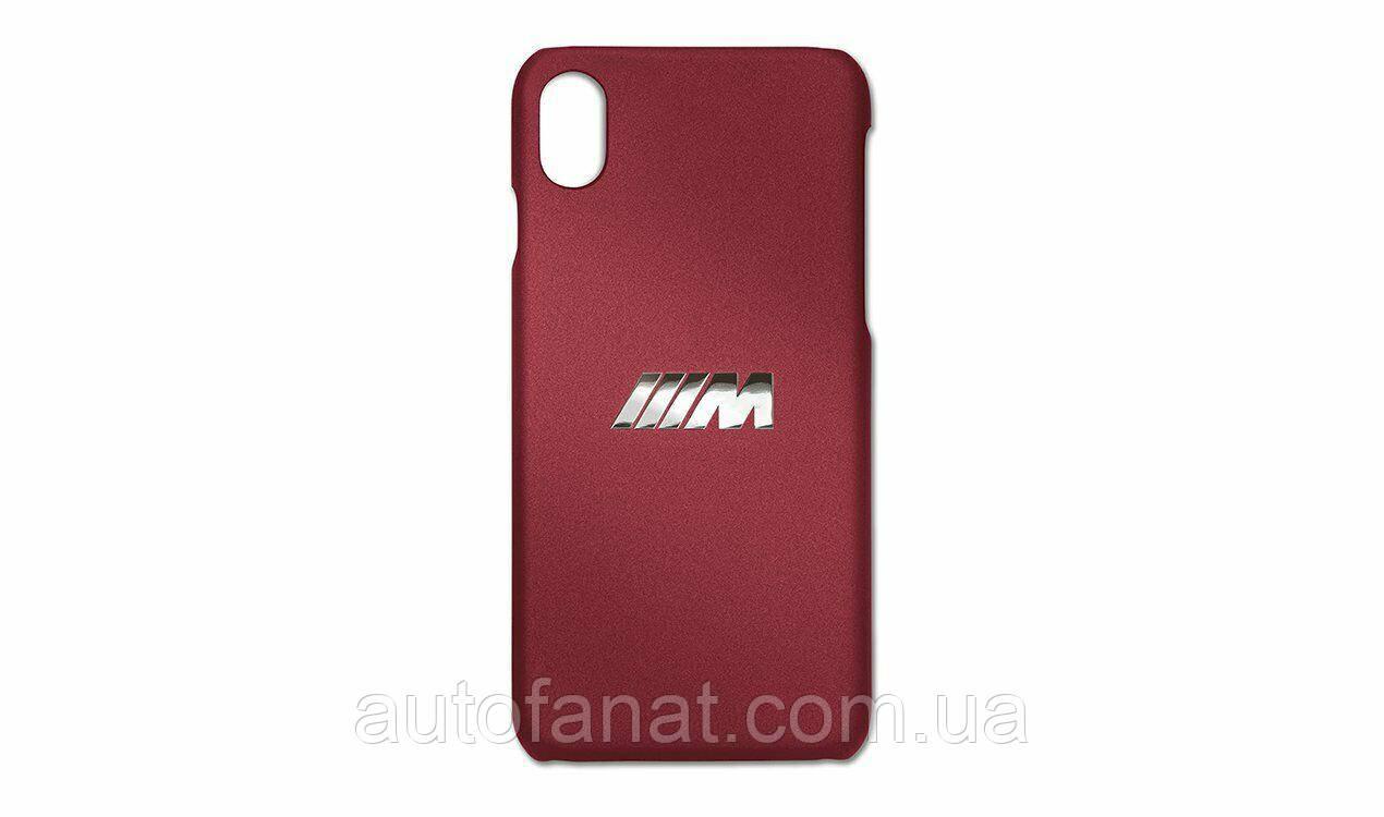 Оригинальный чехол BMW M для iPhone XS, Burgundy (80212463092)