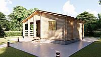 Дом деревянный из профилированного бруса 8х5,5 м