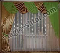 Ламбрекен со шторой на карниз 3 метра, фото 1