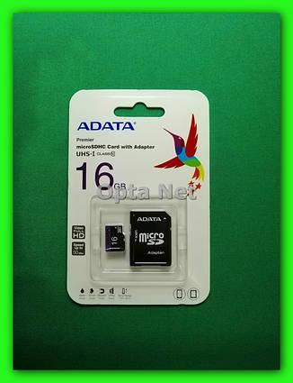Карта памяти ADATA SDHC 16GB Class 10