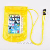 Аквабокс - водонепроницаемый чехол для телефона и документов Желтый
