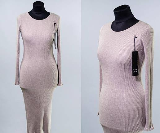 """Изящное женское платье ткань """"мягкий трикотаж рубчик"""" 44 размер норма, фото 2"""