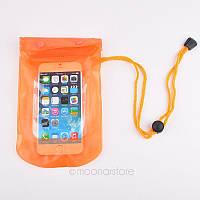 Аквабокс - водонепроницаемый чехол для телефона и документов Оранжевый, фото 1