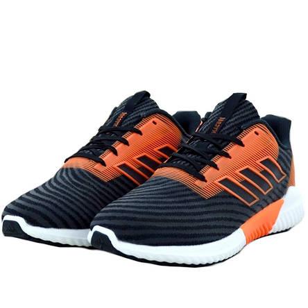 Кроссовки мужские Adidas Climacool (черные-оранжевые) Top replic, фото 2