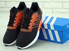 Кроссовки мужские Adidas Climacool (черные-оранжевые) Top replic, фото 3