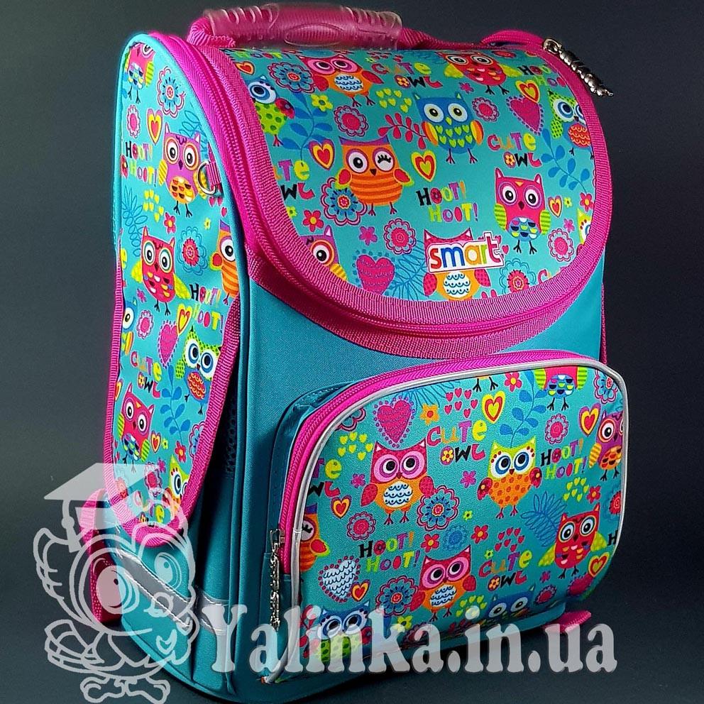 Рюкзак SMART 555930 каркасный для девочек PG-11 Funny owls Smart