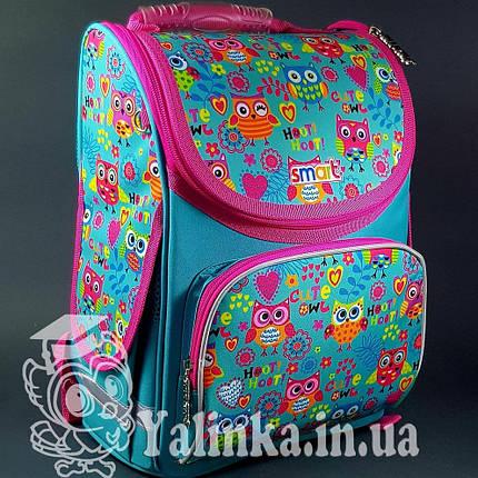 Рюкзак SMART 555930 каркасный для девочек PG-11 Funny owls Smart, фото 2