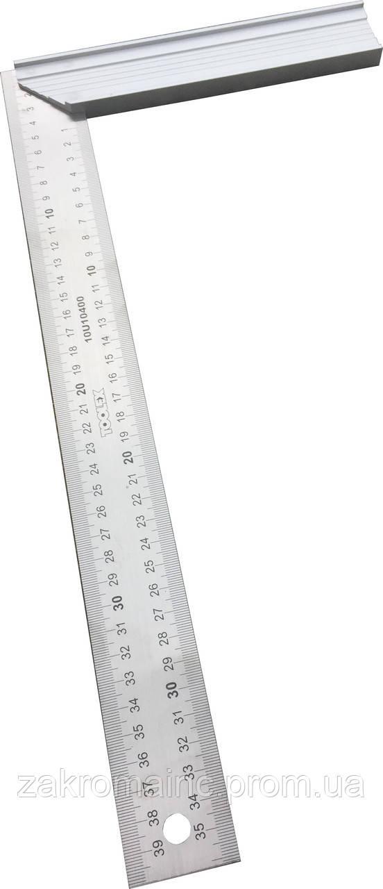Линейка - угольник измерительная металлическая  10U10 250