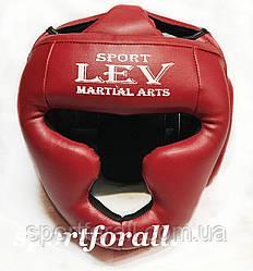 Шлем тренировочный с полной защитой Lev LV-4294-R красный