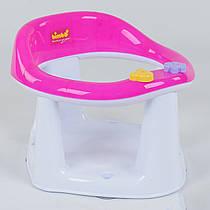 Детское сиденье для купания на присосках BM-10600 Pink-White Гарантия качества Быстрая доставка