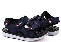 Детские синие сандалии на липучках для мальчика Размеры 26-31