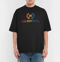 Футболка Balenciaga черная| Топ качество