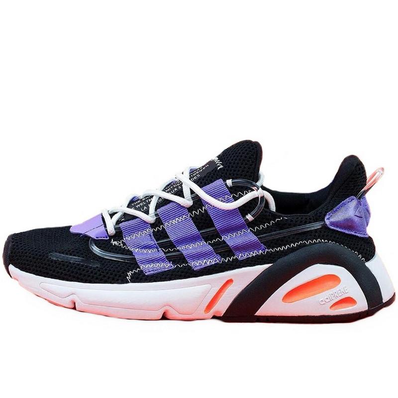 Кроссовки мужские Adidas Lexicon (черные-фиолетовые) Top replic