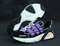 Кроссовки мужские Adidas Lexicon (черные-фиолетовые) Top replic , фото 3