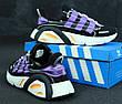 Кроссовки мужские Adidas Lexicon (черные-фиолетовые) Top replic , фото 2