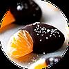38. Фрукти, ягоди та горіхи в шоколаді