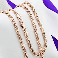 Цепочка Позолота 585 пробы длина 50 см, ширина 3.5 мм,медицинское золото, ювелирный сплав, бижутерия