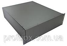 Корпус металевий Rack 3U, модель MB-3520SP (Ш483(432) Г522 В132) чорний, RAL9005(Black textured)