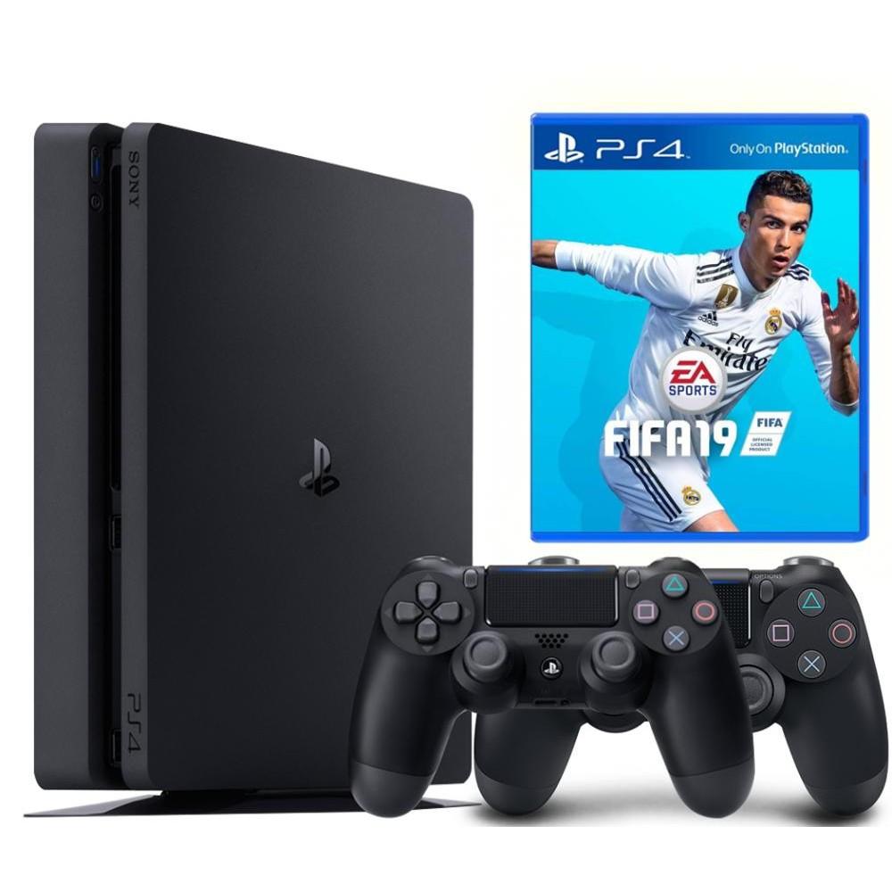 Игровая приставка Sony PlayStation 4 Slim 1TB DualShock Bundle + FIFA 19, фото 1