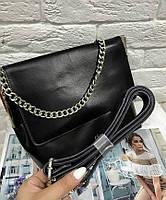 Сумка женская кожаная натуральной кожи  Celine в черном , кожаные сумки