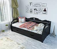 """Кровать подростковая """"Белла"""" цвет черный лак"""