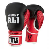 Оригинальные Боксерские Перчатки Title Ali Infused Foam Training Gloves - Black/Red
