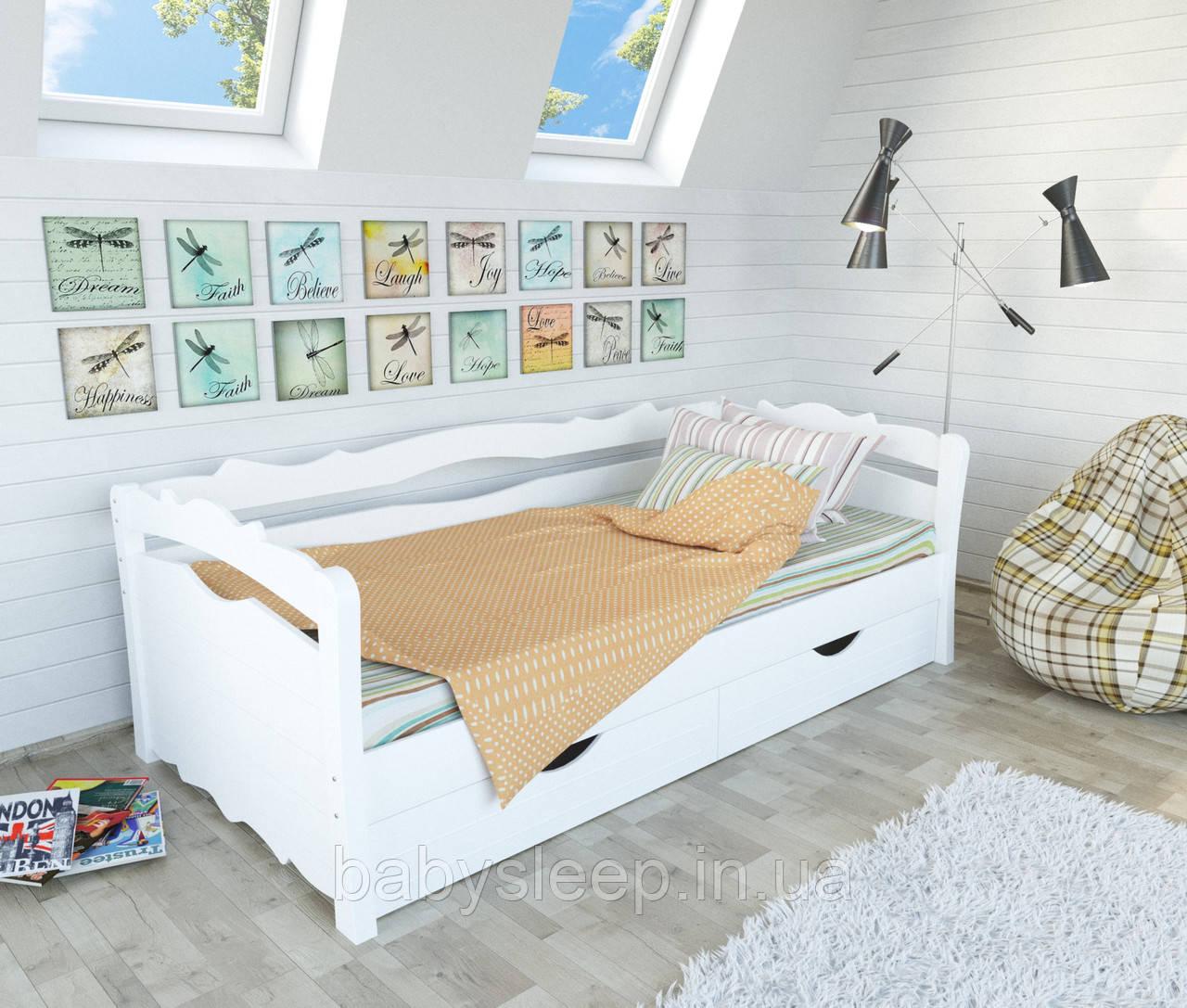 """Кровать подростковая """"Мрия"""" белая"""