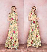 """Стильное платье в пол """" Цветы """" Dress Code, фото 1"""