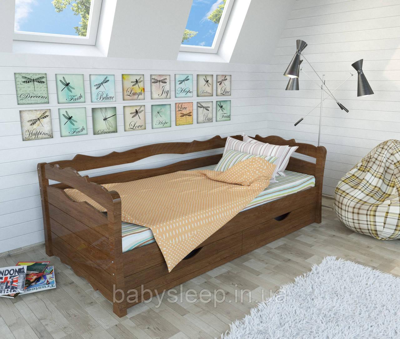 """Кровать подростковая """"Мрия"""" цвет орех"""
