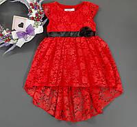 Шикарное Гипюровое  Платье для Девочки Красное Рост 98-104 см