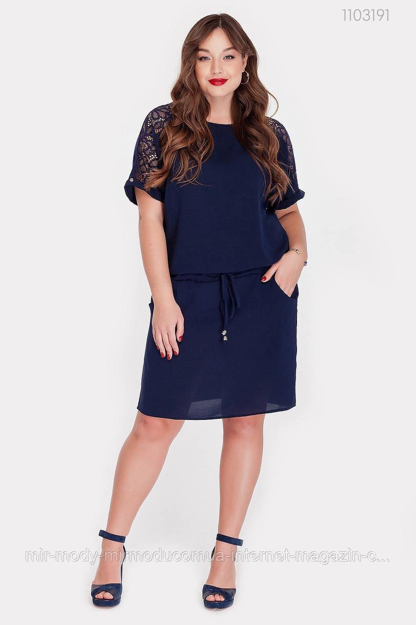 Платье Виченца (синий)(2 цвета) с 48 по 54 размер (рин)
