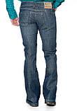 Джинсы мужские Franco Benussi 1273 клёш синие, фото 4
