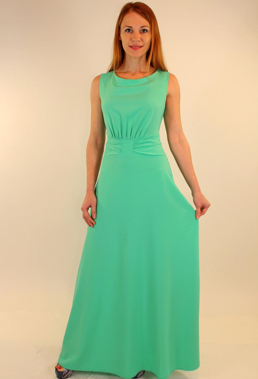 Легкое летнее платье 42-48 р ( бирюза, коралл )