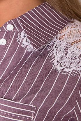 Летнее платье рубашка хлопковое с кружевом, фото 3