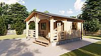 Дом деревянный садовый из профилированного бруса 5,5х5,8 м