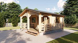 Дом деревянный садовый из профилированного бруса 5,5х5,8 м. Кредитование строительства деревянных домов