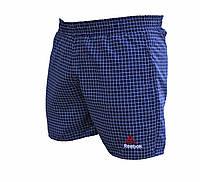 Мужские короткие болоневые шорты Reebok в клетку плащевка (Реплика)