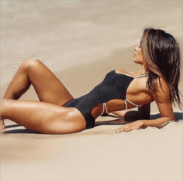Женский сплошной купальник  с открытой спиной в стиле PEPE JEANS