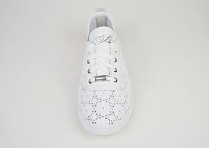 Мокасини жіночі білі Selesta 27805, фото 3