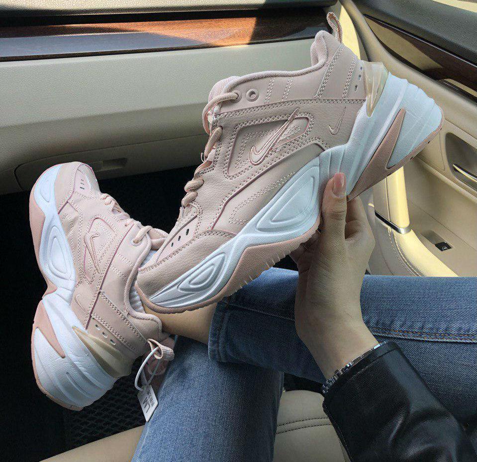 8d1e2d50 Nike M2K Tekno Particle Pink White   кроссовки женские; бледно-розовые