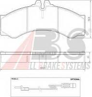 Колодка торм. диск. MBVW SPRINTER 400LT 46 передн. (пр-во ABS) A.B.S. 37000 на MERCEDES-BENZ SPRINTER 3-t c бортовой платформой/ходовая часть (903)