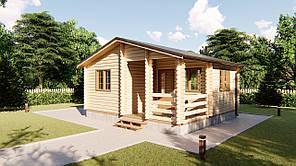 Дом деревянный для дачи из профилированного бруса 6х5,5 м. Кредитование строительства деревянных домов