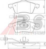 Колодка торм. диск. VW T4 15 передн. (пр-во ABS) A.B.S. 37143 на VW TRANSPORTER / CARAVELLE Mk IV автобус (70XB, 70XC, 7DB, 7DW)