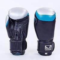 Перчатки боксерские кожаные на липучке BAD BOY MA-5433-BK1(реплика)