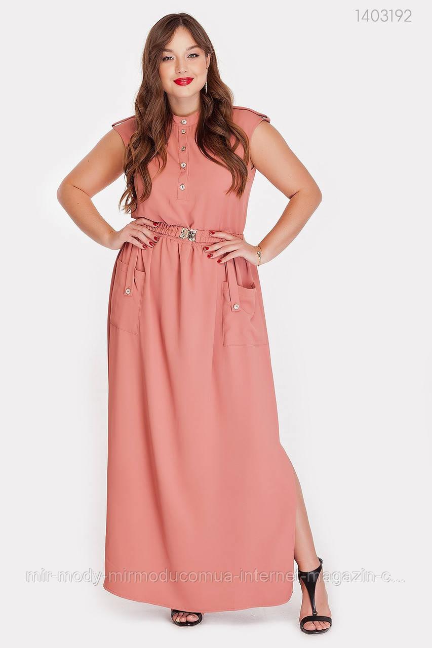 Платье Монпелье (теракотовый) (2 цвета) с 50 по 52 размер  (рин)