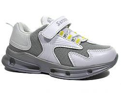 Модные бело-серые кроссовки с перфорацией VIOLETA для девочки 33,34,36р