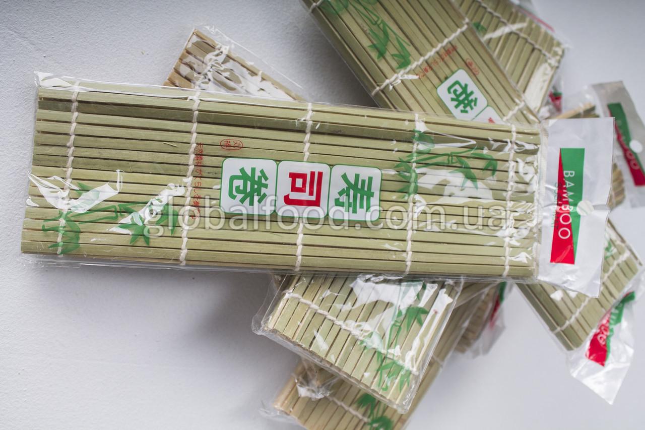 Бамбуковый Коврик для Суши Роллов (Циновка,Матик,Макису) (24х24 см.)